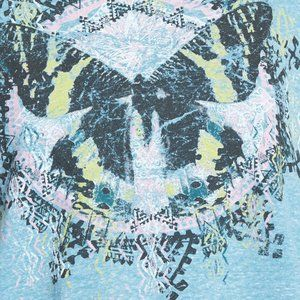 living doll Tops - Living Doll NWT Blue Butterfly Graphic Tee Shirt
